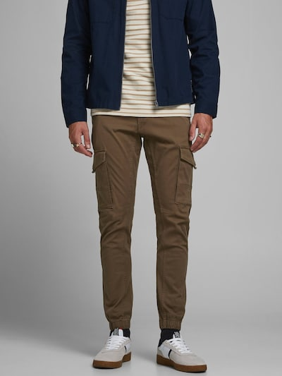 JACK & JONES Hose 'Paul Flake' in braunmeliert, Modelansicht