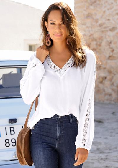 VIVANCE Bluse in weiß, Modelansicht