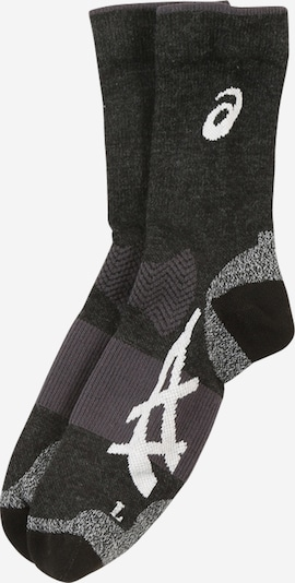 ASICS Sportsocken in dunkelgrau / schwarz / weiß, Produktansicht