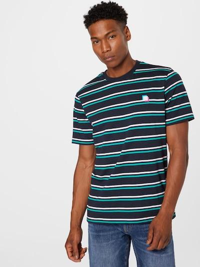 Only & Sons Тениска в нейви синьо / тюркоазен / бяло: Изглед отпред