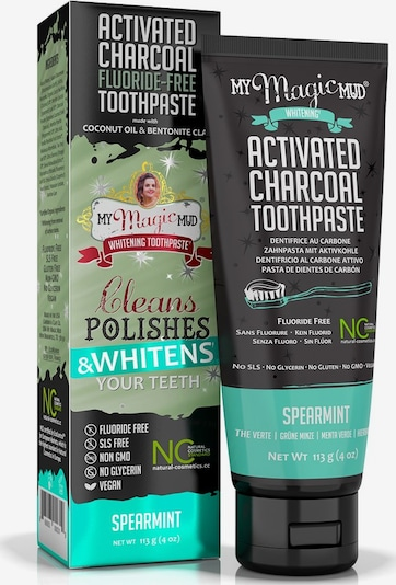 My Magic Mud Zahncreme 'Activated Charcoal Fluoride-Free Spearmint' in weiß, Produktansicht