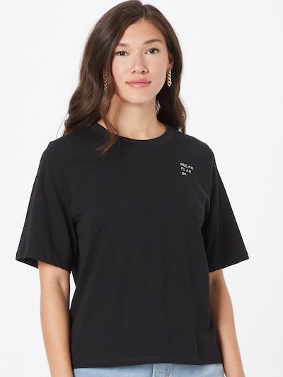 Marc O'Polo Тениска 'Hapiness' в черно / бяло: Изглед отпред