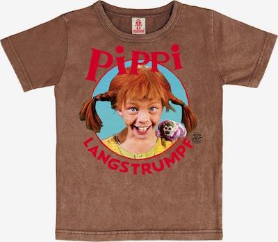 LOGOSHIRT T-Shirt 'P. Langstrumpf' in braun / mischfarben, Produktansicht