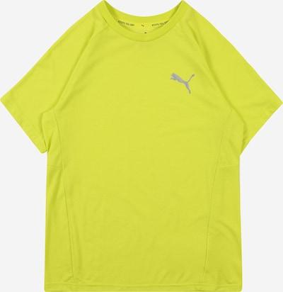 PUMA T-Shirt 'Evostripe' in neongelb / silber, Produktansicht