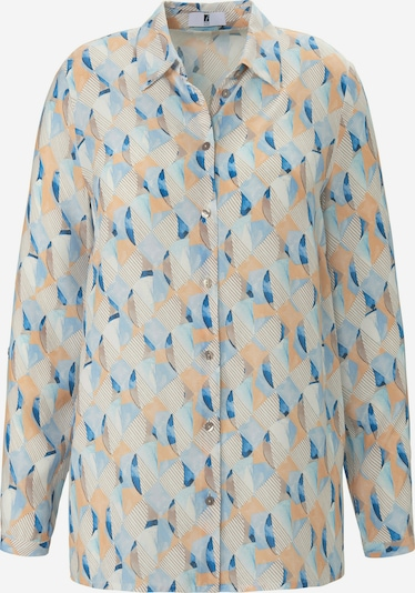 Anna Aura Blouse in de kleur Beige / Blauw, Productweergave