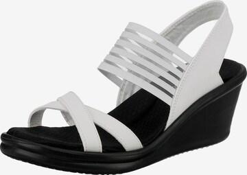 SKECHERS Sandale in Weiß