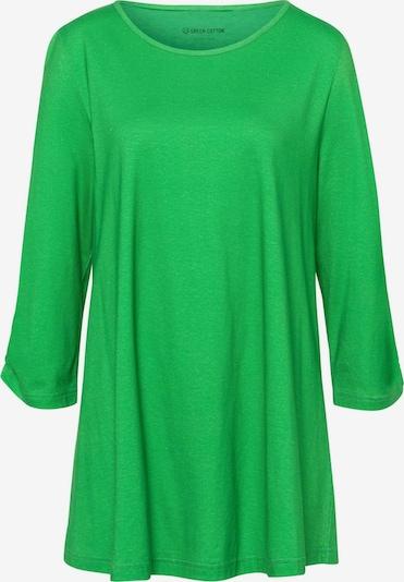 Green Cotton 3/4-Arm-Shirt Longshirt in grün, Produktansicht