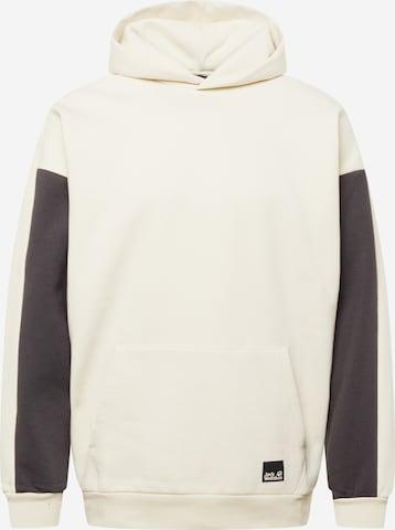 JACK WOLFSKIN Sports sweatshirt in White