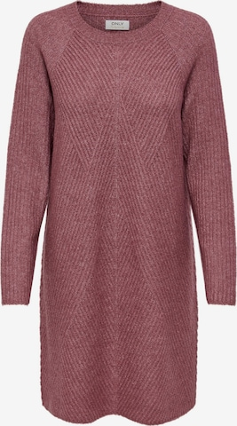ONLY Knitted dress 'Carol' in Purple