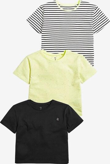 NEXT T-Shirt in pastellgelb / schwarz / weiß, Produktansicht