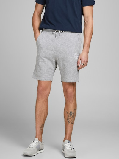 JACK & JONES Shorts in graumeliert, Modelansicht