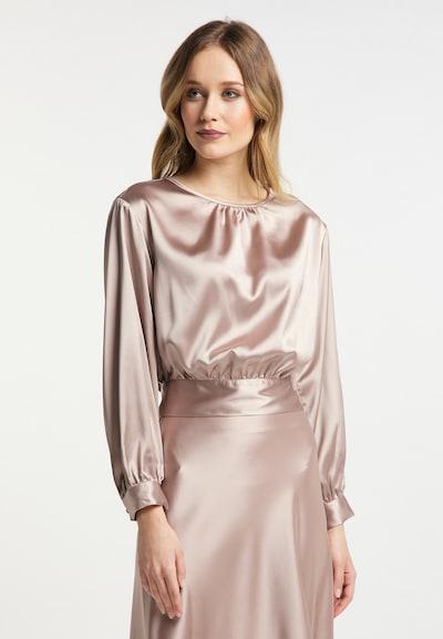 DreiMaster Klassik Bluse in camel, Modelansicht