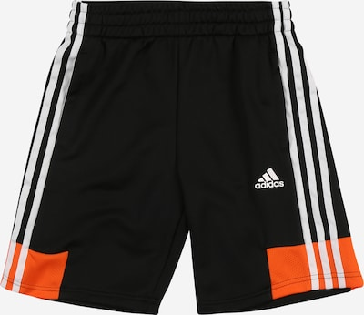 ADIDAS PERFORMANCE Shorts in orange / schwarz / weiß, Produktansicht