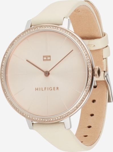 TOMMY HILFIGER Analog watch in beige / rose gold / silver, Item view