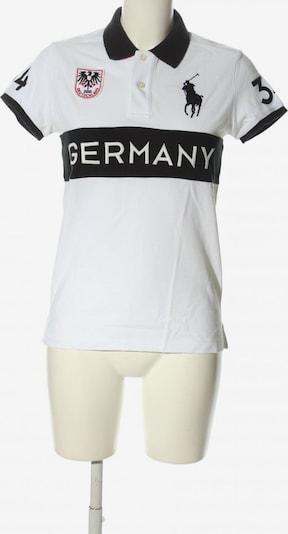 RALPH LAUREN Polo-Shirt in M in rot / schwarz / weiß, Produktansicht