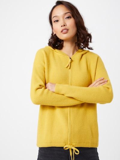 TOM TAILOR Gebreid vest in de kleur Geel, Modelweergave