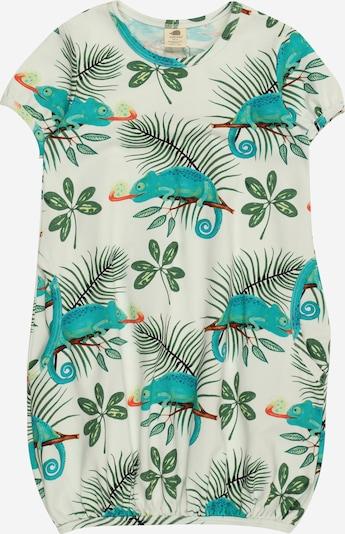 Walkiddy Kleid in türkis / karamell / grün / melone / weiß, Produktansicht
