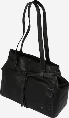 TOM TAILOR Handtasche 'Lina' in Schwarz