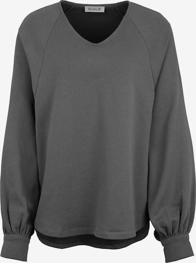 SoSUE Sweat-shirt en gris foncé, Vue avec produit