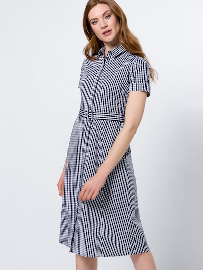 zero Blusenkleid in marine / weiß, Modelansicht