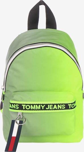 Tommy Jeans Rugzak 'Mini Logo Tape' in de kleur Limoen / Rood / Zwart / Wit, Productweergave
