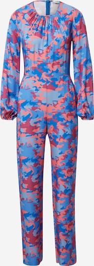 Closet London Jumpsuit in blau / hellblau / lachs / dunkelpink, Produktansicht
