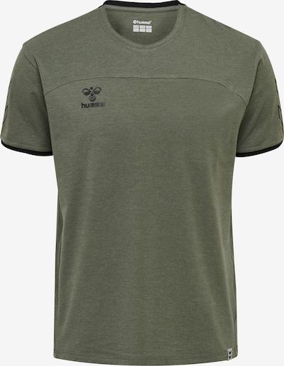 Hummel Functioneel shirt in de kleur Olijfgroen, Productweergave