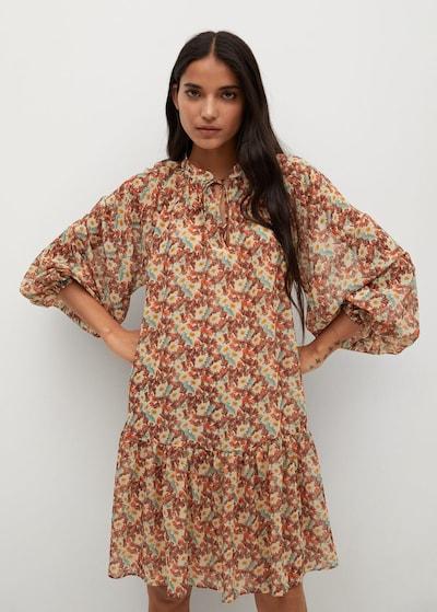MANGO Kleid 'fresa' in hellbraun / mischfarben, Modelansicht