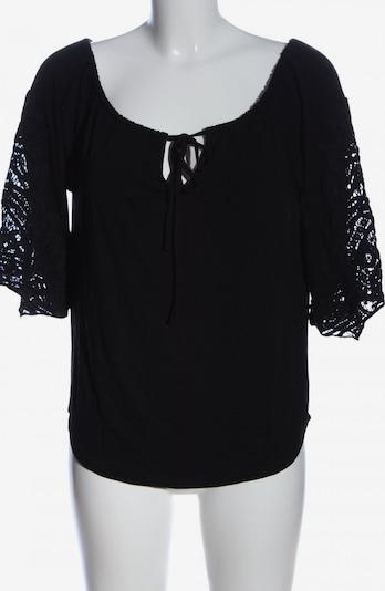 B&C Kurzarm-Bluse in XS in schwarz, Produktansicht