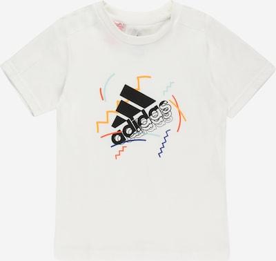 ADIDAS PERFORMANCE Функционална тениска в оранжево / черно / бяло: Изглед отпред