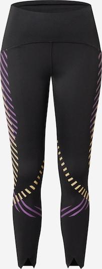 NIKE Sportbroek in de kleur Geel / Lila / Zwart, Productweergave