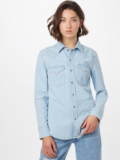 DIESEL Bluse in blue denim, Modelansicht