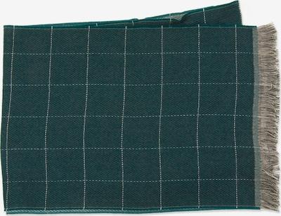 MJM Schal in dunkelgrün / naturweiß, Produktansicht
