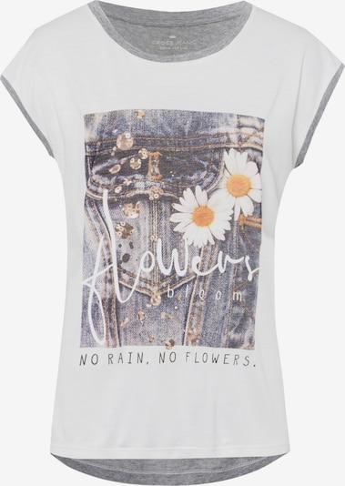 Cross Jeans T-Shirts (mit Arm) ' 55729 ' in grau / weiß, Produktansicht