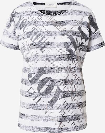 Cartoon T-shirt en noir / blanc: Vue de face