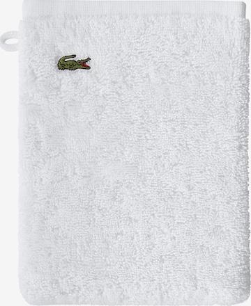 LACOSTE Washcloth 'LE CROCO' in White