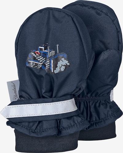STERNTALER Handschuh 'Fäustel' in marine / royalblau / hellblau / schwarz, Produktansicht