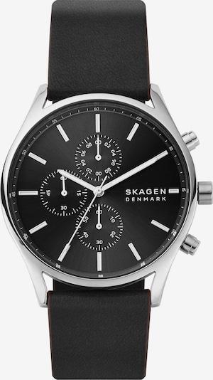 SKAGEN Uhr in schwarz / silber, Produktansicht
