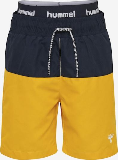 Hummel Badeshorts 'Garner' in marine / goldgelb / weiß, Produktansicht