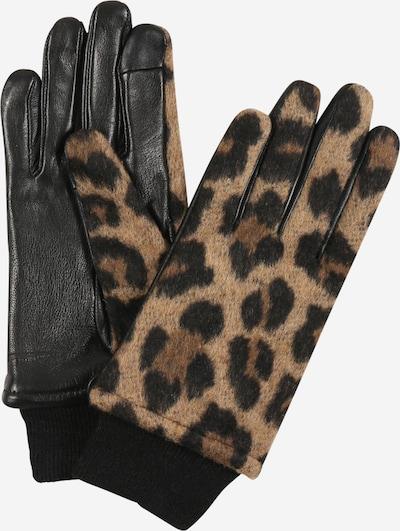 ONLY Handschuhe in braun / dunkelgelb / schwarz, Produktansicht