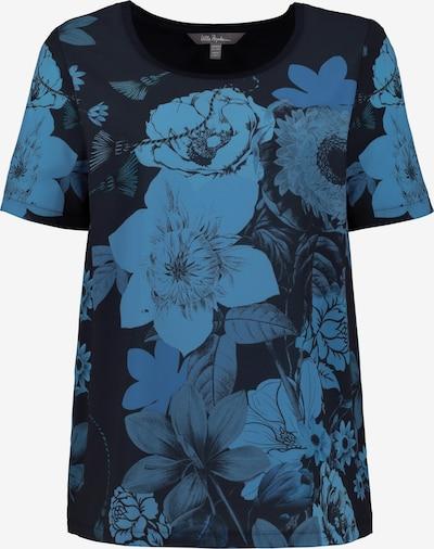 Ulla Popken T-Shirt in himmelblau / dunkelblau: Frontalansicht