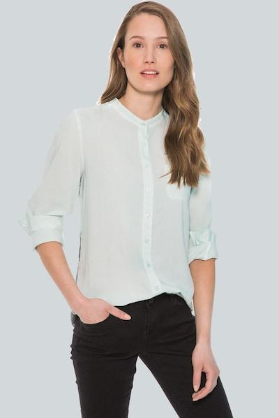 Soccx Bluse in greige / pastellgrün: Frontalansicht
