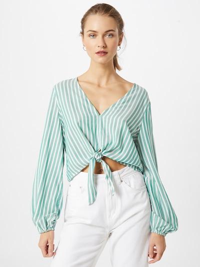 VILA Bluse 'Harper' in grün / weiß, Modelansicht