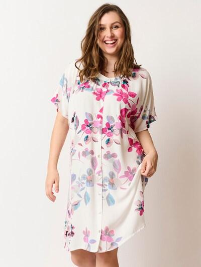 Pont Neuf Kleid 'Axelle' in pink / weiß, Modelansicht