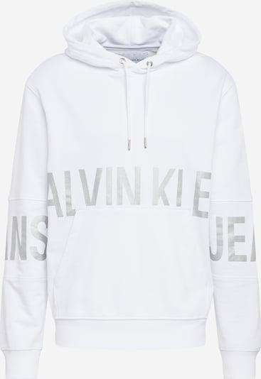 Calvin Klein Jeans Sweatshirt in silbergrau / weiß, Produktansicht