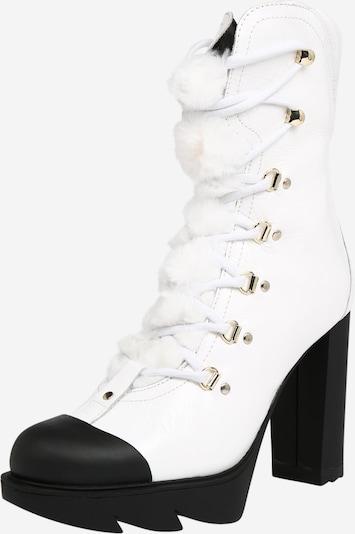 Suvarstomieji kulkšnis dengiantys batai 'RUBBER' iš Love Moschino , spalva - balta, Prekių apžvalga
