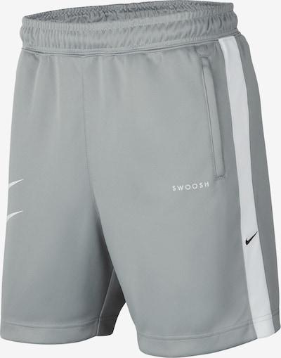 NIKE Sportbroek in de kleur Grijs / Wit, Productweergave
