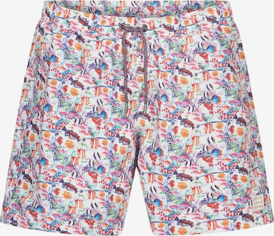 COLOURS & SONS Badeshorts Animal-Print SIMON in lila, Produktansicht