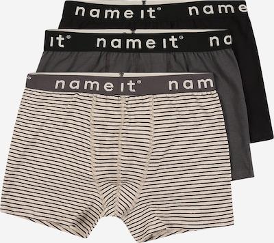 NAME IT Boxershorts in beige / grau / schwarz, Produktansicht