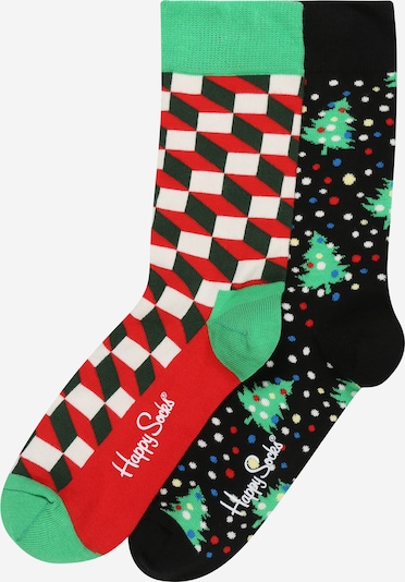 Happy Socks Socken in blau / grasgrün / rot / schwarz / weiß, Produktansicht